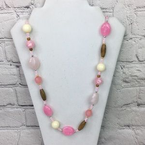 5/$25 Boho chic beaded statement necklace